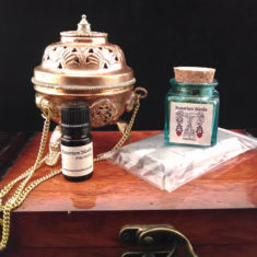 Hanging Brass Incense Burner Set