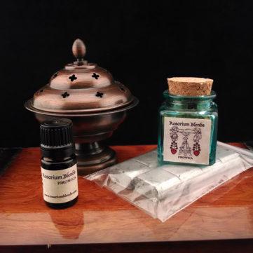 Iron Pot Incense Set