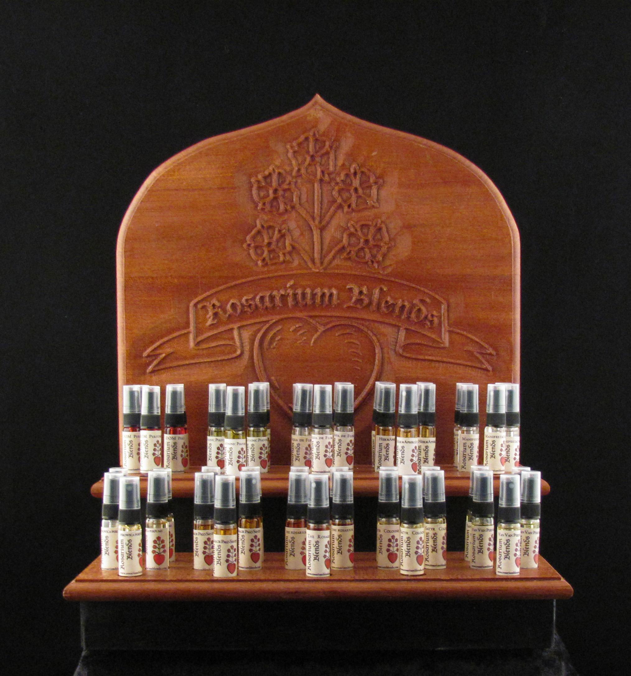 Perfume Tester Display: Rosarium Blends